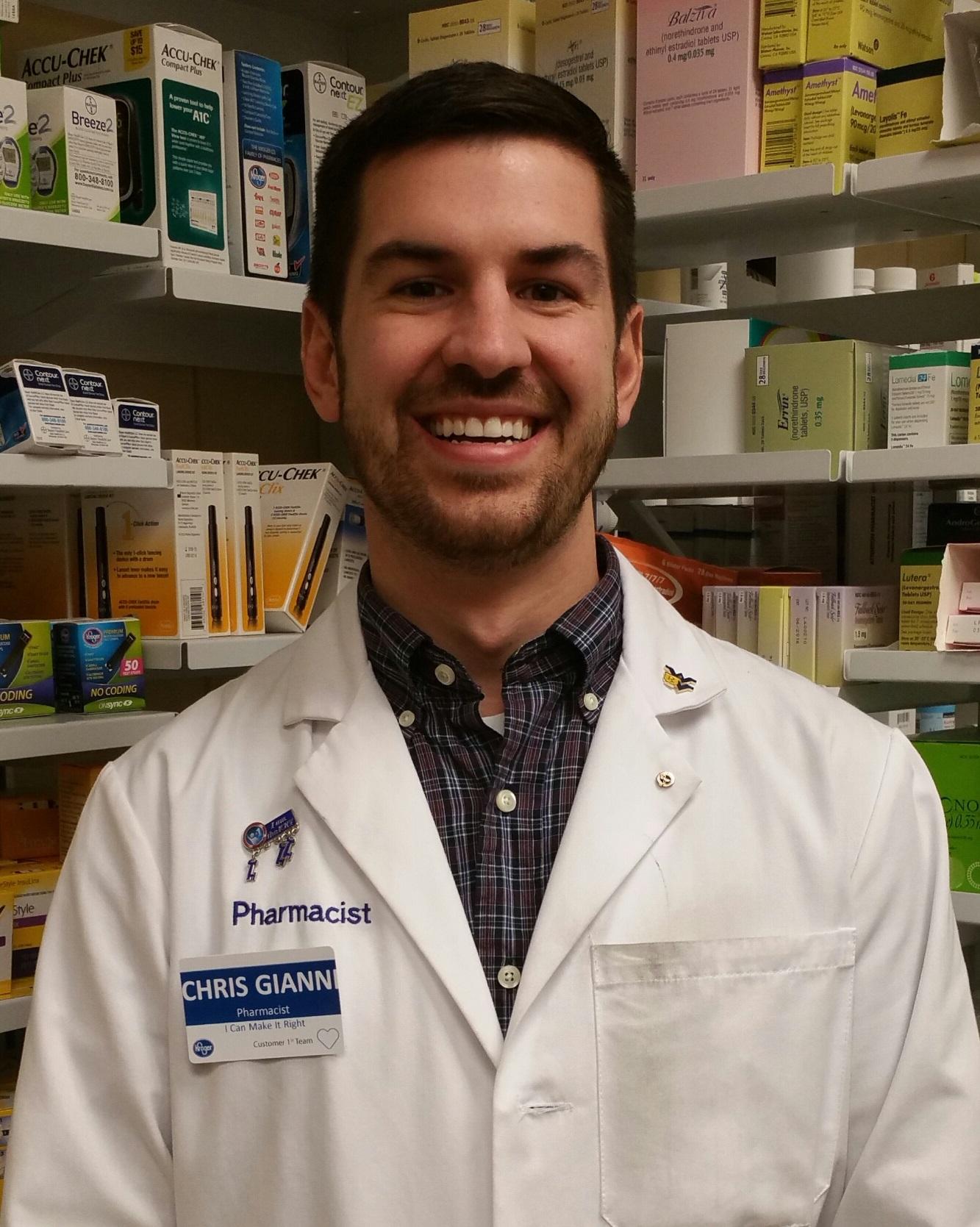 Pharmacist Of The Week Chris Gianni Kroger Morgantown
